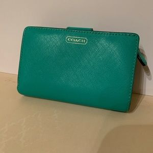 COACH Bright Teal Wallet
